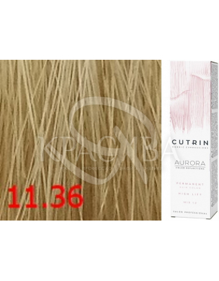 Cutrin Aurora Permanent Color - Аммиачная краска для волос 11.36 Чистый песочный блондин, 60 мл