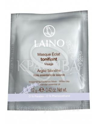 Laino тонізуюча Маска для сяйва шкіри з білою глиною, 12 р : Laino