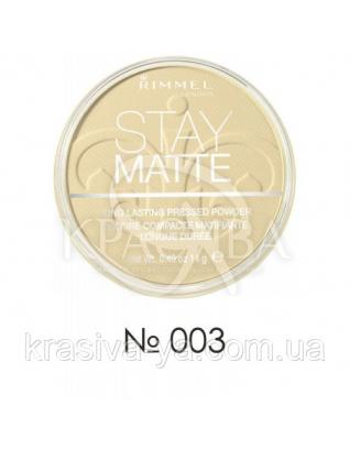 RM Stay Matte - Пудра компактная (003-светлый персиковый), 14 г : Макияж для лица