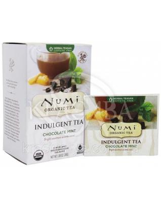 "NUMI Травяной тизан "" Шоколад и мята "" / Chocolate Mint, 12 пакетиков : Травяной чай"