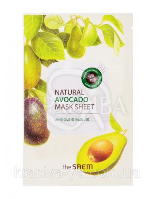 "The Saem Natural Sheet - Тканинна маска з натуральним екстрактом Авокадо"", 20 мл : The Saem"