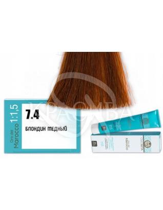 Barex Olioseta ODM - Крем-краска безаммиачная с маслом арганы 7.4 Блондин медный, 100 мл :