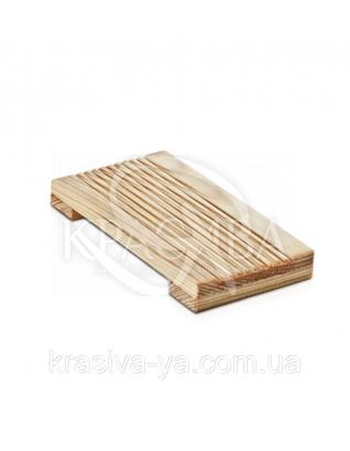 Мильниця дерев'яна - Natural / Світло-коричневий 1 шт : Аксесуари для ванної
