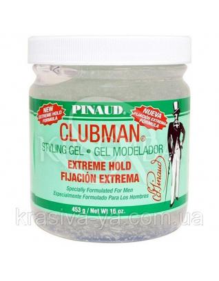 Гель для укладання волосся екстремальної фіксації Clubman Extreme Hold Styling Gel, 453 р : Clubman