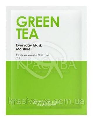 Зволожуюча щоденна маска для обличчя Boom De Ah Dah Everyday Mask Green Tea, 10 шт * 25 г : Boom De Ah Dah