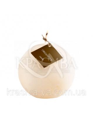 Свеча ароматерапевтическая большой шар d 120 - Ваниль (Бежевый), 765 г