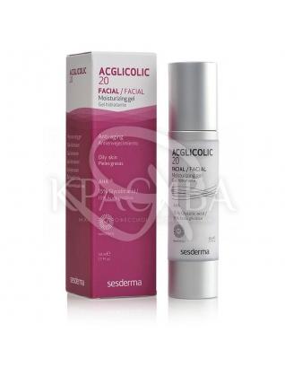 Acglicolic 20 Moisturizing Cream-Gel - Зволожуючий крем-гель для обличчя, 50 мл :
