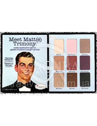 The Balm Palettes Meet Matte Trimony - Палетка теней, 21.6 г : Палетки