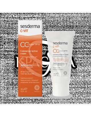 C-Vit CC Cream SPF15 - CC крем для лица SPF15, 30 мл : СС-крем