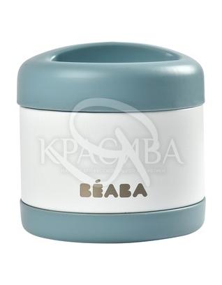 Термос для їжі білий з блакитним : Beaba