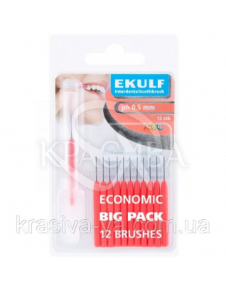 Щетки для межзубных промежутков Ekulf Ph 0,5 мм, 2 уп * 12 шт