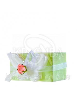 Глицериновое мыло куб - Зеленая бабочка, 120 г : Мыло