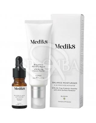 Увлажняющий крем для проблемной кожи с пребиотиками и активатором с гликолевой кислотой :