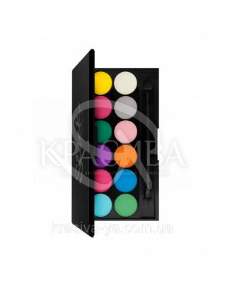 Sleek I-Divine Palette Ultra Mattes V1 Brights - Палетка теней для век, 12*1.1 г : Sleek make up