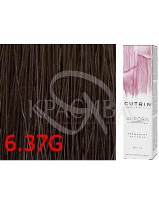 Cutrin Aurora Permanent Color - Аммиачная краска для волос 6.37G Золотое дерево, 60 мл
