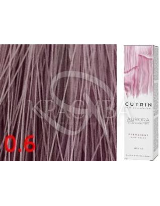 Cutrin Aurora Permanent Color - Аммиачная краска для волос 0.6 Лиловый вереск, 60 мл