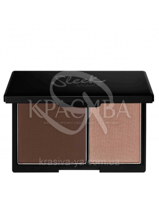 Sleek Contour Kit Medium - Матова пудра і хайлайтер для обличчя, 14 г : Sleek make up