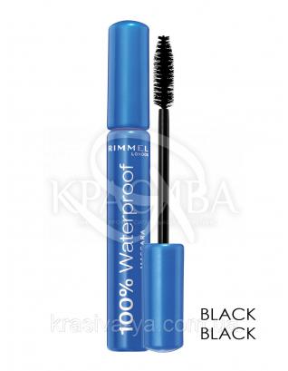 RM 100% Waterproof Mascara - Тушь для ресниц (01- Black Black / черный), 8 мл : Макияж для глаз