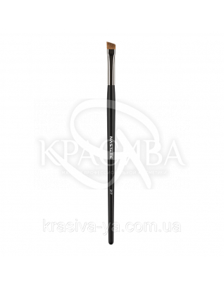 217 Eyebrow and eyeshadow brush, sable - скошена Кисть для брів і тіней, ворс соболь : Nastelle