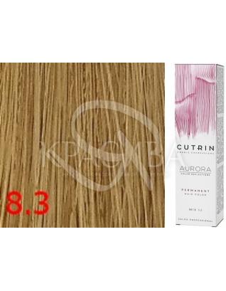 Cutrin Aurora Permanent Color - Аммиачная краска для волос 8.3 Светло-золотистый блондин, 60 мл
