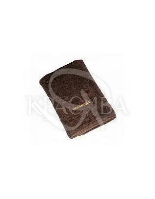 Великий махровий рушник з логотипом 100% коттон Коричневий, 50*100 см : Аксесуари для ванної