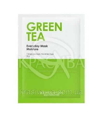Зволожуюча щоденна маска для обличчя Boom De Ah Dah Everyday Mask Green Tea, 10 шт * 25 г - 1