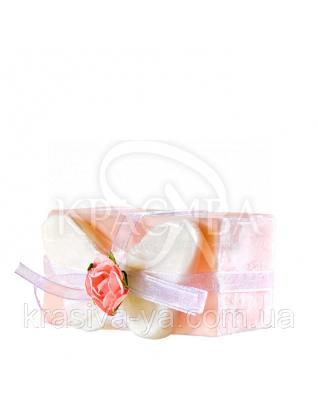 Глицериновое мыло куб - Розовая бабочка, 120 г : Мыло