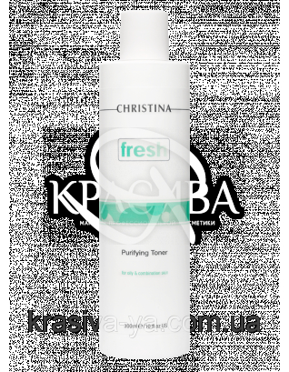 Очищуючий тонік з лемонграс для жирної шкіри Fresh Purifying Toner oily skin with Lemongrass, 300 мл :