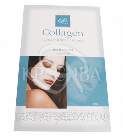 Коллагеновая маска для лица Faifia - подтягивающая, 3 шт * 20г - 1