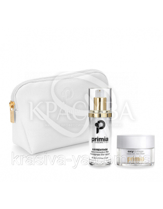 Oxyrevitage Face Cream + Filler-Serum + Pochette + Box - Антивікова лінія для особи, 50мл+30мл+косметичка : Primia Cosmetici