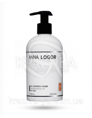 Oil Control Toner Стабілізуючий тонік для жирної шкіри, 350 мл : Anna Logor
