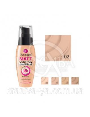 DC Make-up Matt Control 18H 02 Fair Тональный крем матирующий, 30 мл :