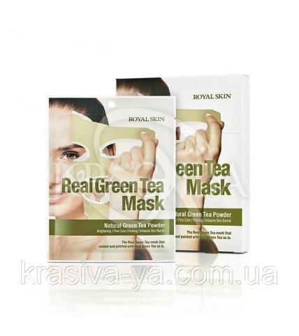 Маска для обличчя з Зеленим чаєм Royal Skin Real Green Tea Mask, 5 шт - 1