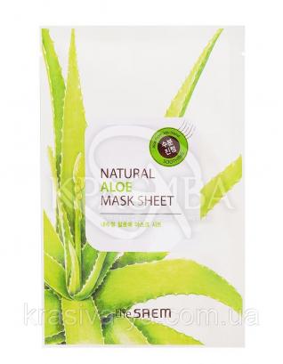 "The Saem Natural Sheet - Тканинна маска з натуральним екстрактом ""Алое"", 20 мл : The Saem"