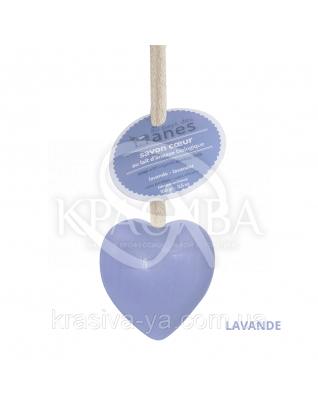 "Мыло на льняном шнурке в форме сердца Lavande ""Лаванда"", 100 г : Мыло"