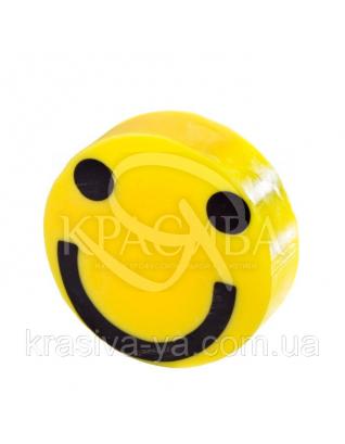 Глицериновое мыло куб С - Желтый смайлик, 100 г : Мыло